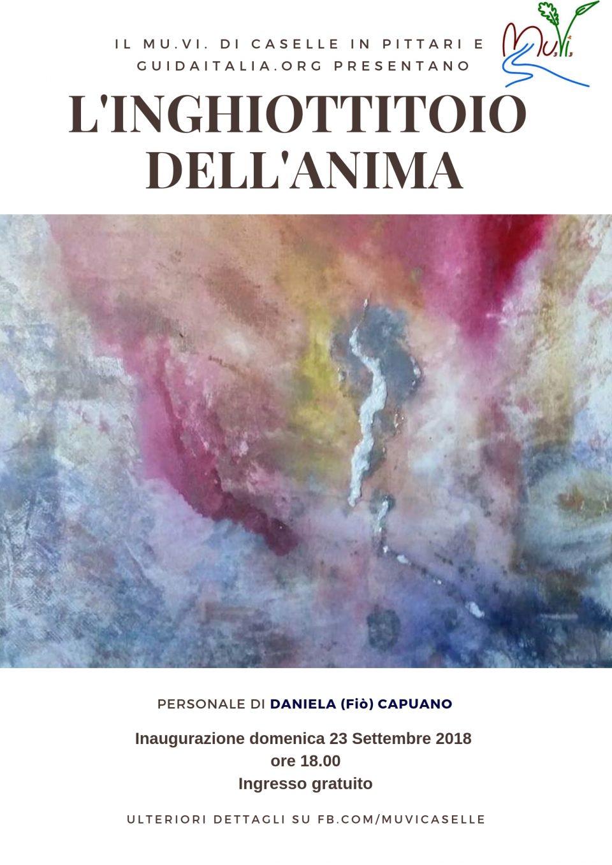Mostra di Daniela Fiò Capuano al MuVi di Caselle in Pittari. Inaugurazione 23 Settembre 2018 ore 18. Ingresso gratuito